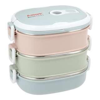 Amark Bento Stainless Steel Lunch Box 900ml x 3-Tier