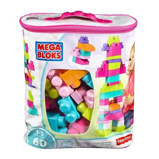 FIsher Price Mega Bloks Big Building Bag - Pink