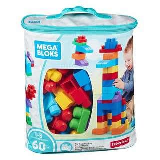 FIsher Price Mega Bloks Big Building Bag - Blue