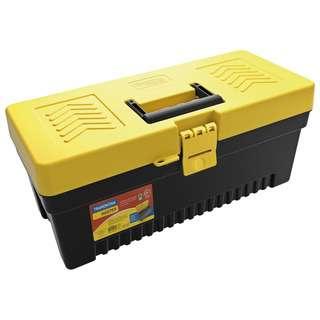 "Tramontina 13"" Plastic Tool Box W Removable Tray"