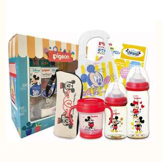 Pigeon Disney Feeding Gift Set (Mickey & Minnie)