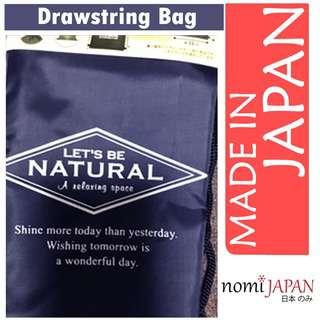 Synaps Japan Unisex Drawstring Bag with Handle Dark Blue