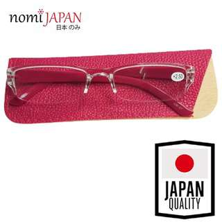 Nomi Japan Reading Glasses Power +2.5 With Cover - Pink