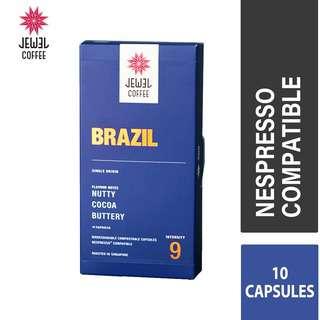 Jewel Coffee Nespresso Coffee Capsules - Brazil (10pc)