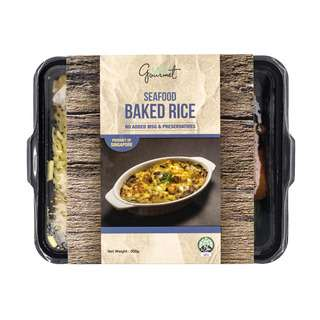 Easy Gourmet Seafood Baked Rice