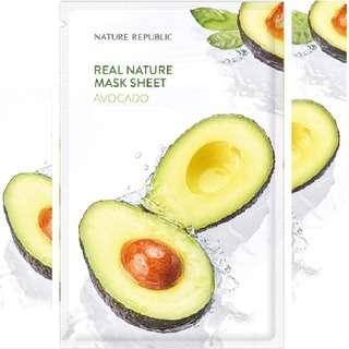 Nature Republic Real Nature Mask Sheet - Avocado