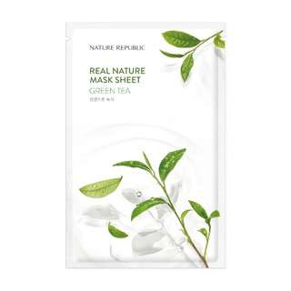 Nature Republic Real Nature Mask Sheet - Green Tea