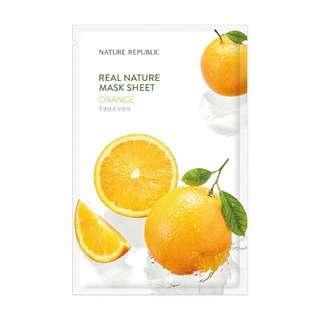 Nature Republic Real Nature Mask Sheet - Orange