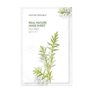 Nature Republic Real Nature Mask Sheet - Tea Tree