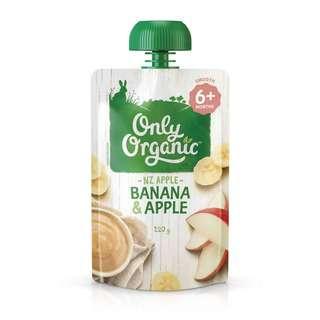Only Organic BANANA & APPLE