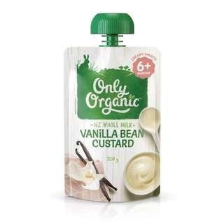 Only Organic VANILLA BEAN CUSTARD