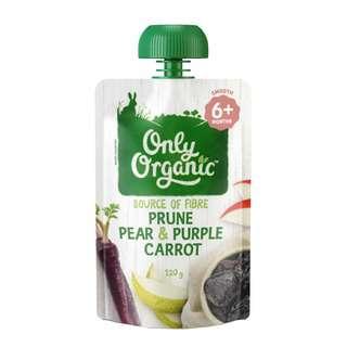 Only Organic PRUNE PEAR & PURPLE CARROT