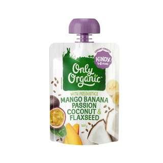 Only Organic MANGO BANANA PASSION COCONUT & FLAXSEED