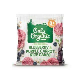 Only Organic BLUEBERRY & PURPLE CARROT RICE CAKES