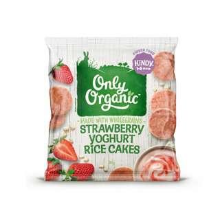 Only Organic STRAWBERRY YOGHURT RICE CAKES
