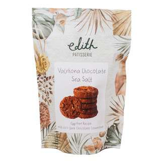 Edith Patisserie Valrhona Chocolate Sea Salt Cookies - Bag