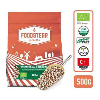 FOODSTERR Organic Turkish Raw Chick Peas 0.5KG