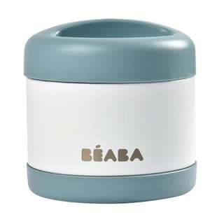 Beaba Stainless Steel Isothermal Portion (Baltic blue/White)
