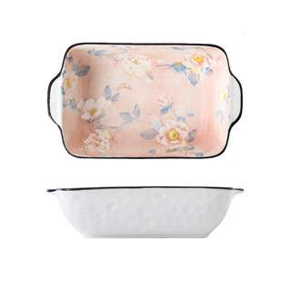 Table Matters Camellia - 8.5 inch Baking Dish with Handles
