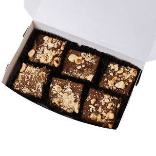Edith Patisserie Hazelnut Brownies - Box of Six