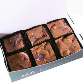 Edith Patisserie Earl Grey Brownies - Box of Six