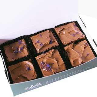 Edith Patisserie Earl Grey Brownies - Box of Six