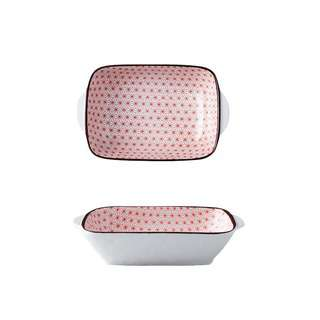 Table Matters Starry Red - 8.5 inch Baking Dish with Handles