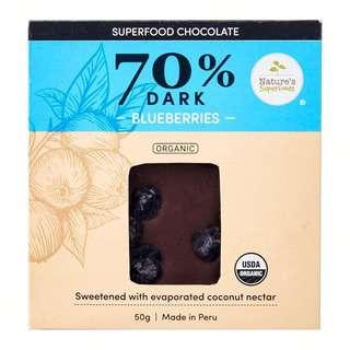 Nature's Superfoods Organic Dark Chocolate (70%) Blueberries