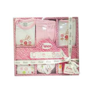 OWEN BABY 9PC GIFT SET PINK