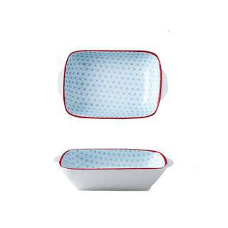 Table Matters Starry Blue - 8.5 inch Baking Dish with Handles
