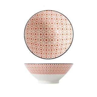 Table Matters Crisscross Red - 9 inch Ramen Bowl