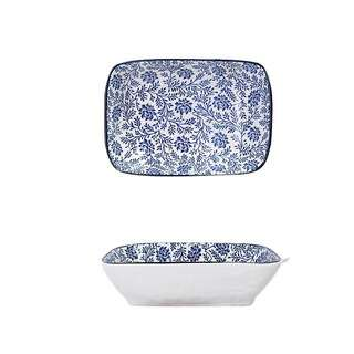 Table Matters Floral Blue - 8.5 inch Baking Dish with Handles