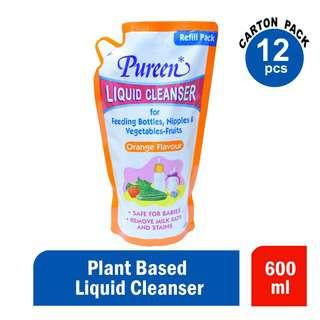Pureen Liquid Cleansers Orange 600ml Ctn
