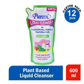 Pureen Liquid Cleansers No Flavour 600ml Ctn