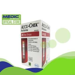 Accu-Chek Performa Test Strips 25S - By Medic Drugstore