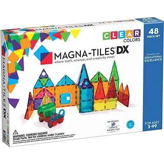 Magna-Tiles Clear Color Deluxe Set