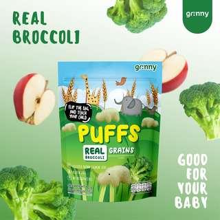 Grinny Baby Rice Puff - Broccoli & Apple