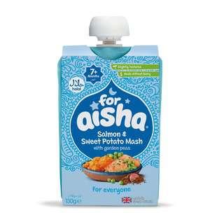 For Aisha Baby Food - Salmon & Sweet Potato Mash Puree