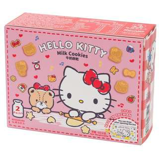Red Sakura Hello Kitty Milk Cookies