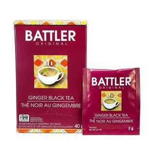 Battler Ginger Black Tea - 20 Individually Wrapped Tea Bags