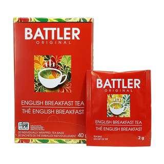 Battler English Breakfast - 20 Individually Wrapped Tea Bags