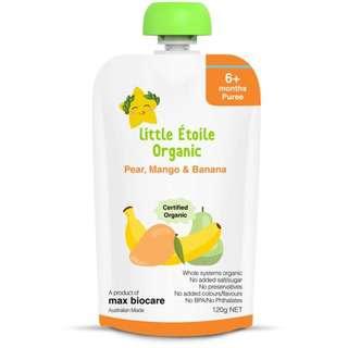 Little Etoile Organic Pear Mango & Banana
