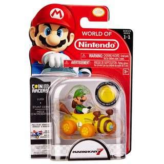 Nintendo Super Mario 3.5-inch Coin Racer Luigi Kart Figure