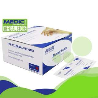 Assure Alcohol Swabs 3cm x 3cm 2ply 200s - By Medic Drugstore