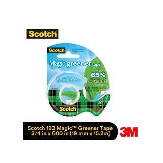 3M 123 Scotch Magic Greener Tape 3/4x 600