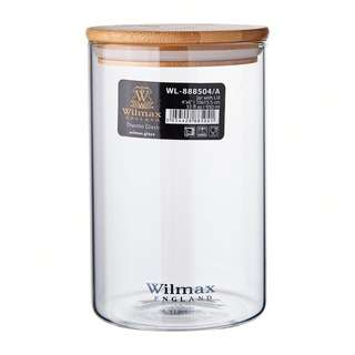 Wilmax England Thermo Glass Jar With Lid 950 ML