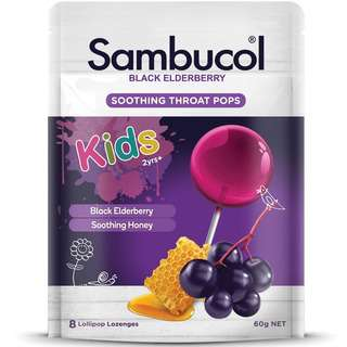 Sambucol Soothing Throat Pops for Kids