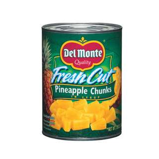 Del Monte Pineapple Chunks in Syrup