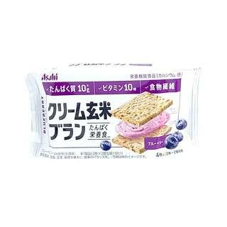 Asahi Blueberry Cream Brown Rice Bran Cookie