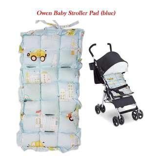 OWEN BABY BABY STROLLER PAD (BLUE)